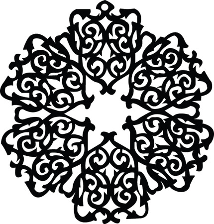 pendant: decorative pendant - vector