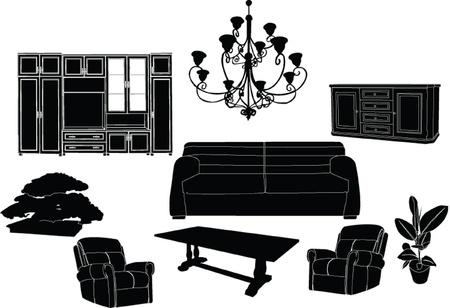 Wohnzimmer set - vektor