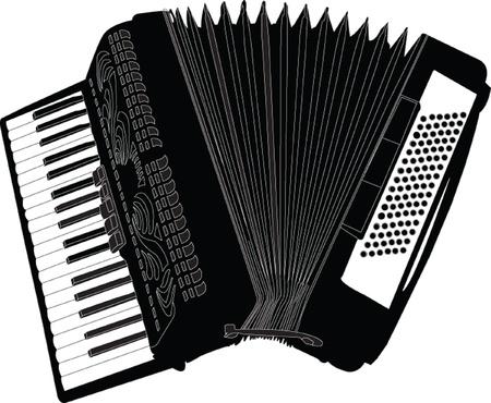 accordion illustration - vector Illustration