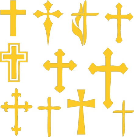 christian crosses - collection Stock Vector - 9267478