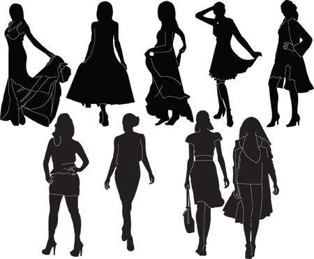 fashion show collection - vector Vector