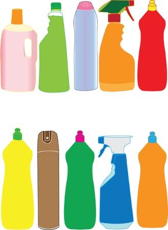 metering: packaging bottle collection - vector Illustration