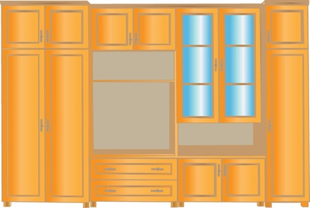 living room design: cabinet for living room - vector