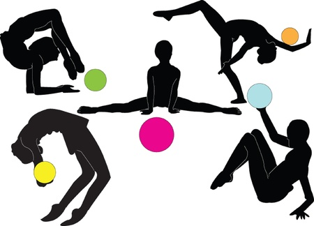rhythmic gymnastics collection - vector Stock Vector - 9267489
