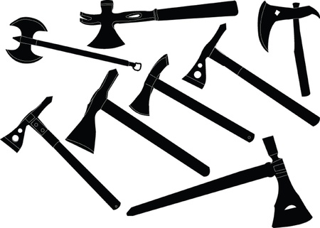 hatchets collection - vector Vector