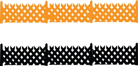 fences collection - vector Vector