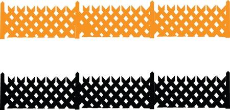 fences collection - vector Vector
