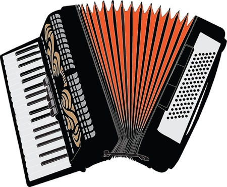 accordion illustration - vector Illustration