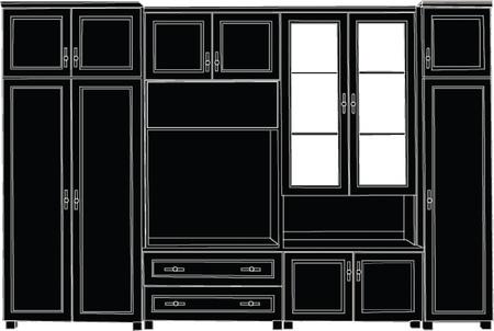home entertainment: shelving for living room -vector Illustration