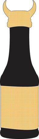 bottle illustration - vector Stock Vector - 12989495