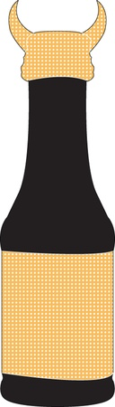 bottle illustration - vector Vector