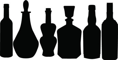whiskey: Бутылка коллекция - вектор