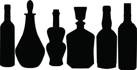 glass vase: bottle collection - vector