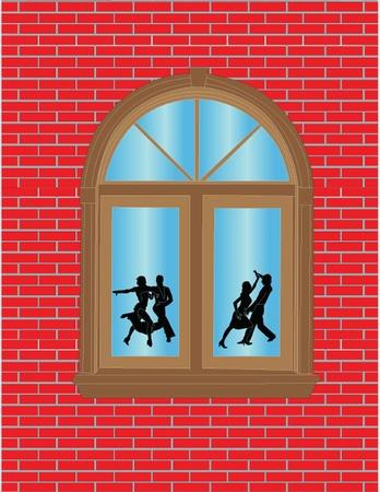 bekijken door het raam illustratie - vector