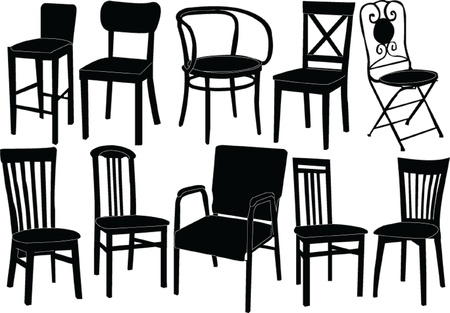 chairs collection - vector Stock Vector - 12989505
