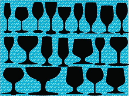 goblet: glasses collection silhouette