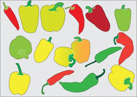 filler: peppers collection silhouette