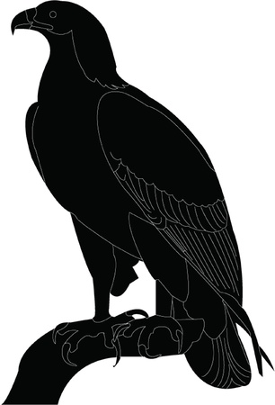 signmaker: golden eagle silouette
