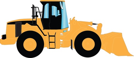 skid loader: loader silhouette Illustration