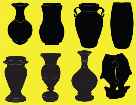 home accessories: vase collection Illustration
