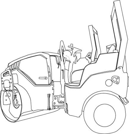 steamroller: Road-roller pressing new asphalt