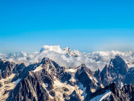 cloud capped: Mont Blanc