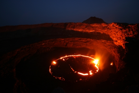 Lava lake at Erta Ale Ethiopia photo
