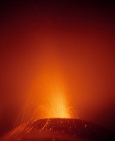 Pacaya volcano eruption photo