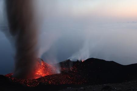Erupting volcano Stromboli Part 3 photo