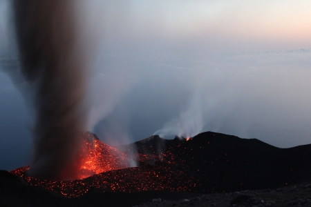 eolian islands: Erupting volcano Stromboli Part 3
