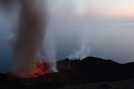 eolian islands: Erupting volcano Stromboli Part 4