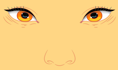larger: Portrait of a child with eyes Asian appearance larger plan