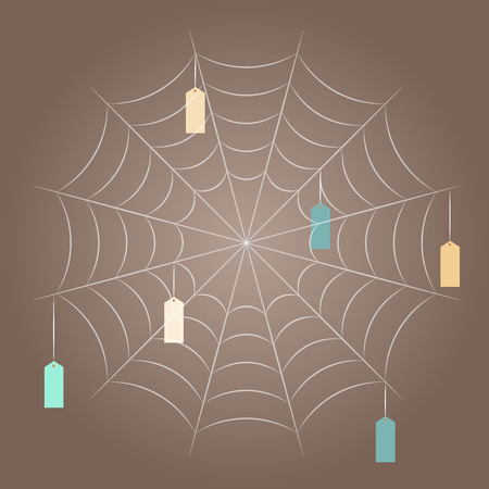 spider web: spider web, template for designer