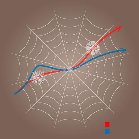 denote: spider web, template for designer