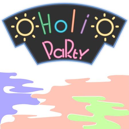 dhulandi: Happy Holi. Vector illustration. Colorful paint splash and powder background
