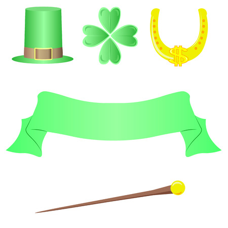 st: St. Patricks Day vector design elements set Illustration