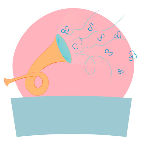 logo music: Postal Horn. Symbol. The template for the logo with the music
