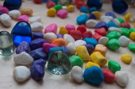 mineralogy: Colored stones for Spa, a large number of shapes and colors