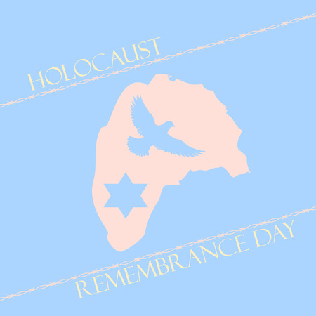 jews: Vector illustration to the Day of memory of Victims of the Holocaust Illustration