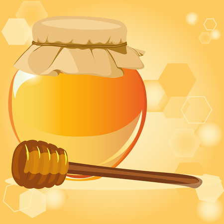 honey apple: happy Rosh Hashanah, honey, Apple - the traditional symbols of the holiday, the Jewish New year, vector illustration for a flyer