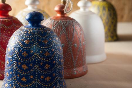 Decorative bell handmade ceramics,