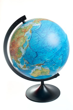 globe isolated on white background Stok Fotoğraf
