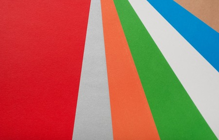 Abstract of coloured cardboard, bright colorful background Stock Photo