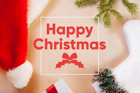 Christmas banner. greeting card, happy Christmas Stock Photo