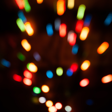 Bokeh background. Lights blurry in fast motion