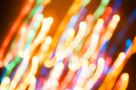 Abstract background. Colorful bokeh fireworks. Holiday lights out of focus Stock Photo