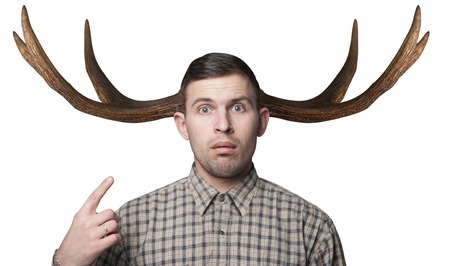 The man with the horns, the concept of female infidelity, hipster cuckold,