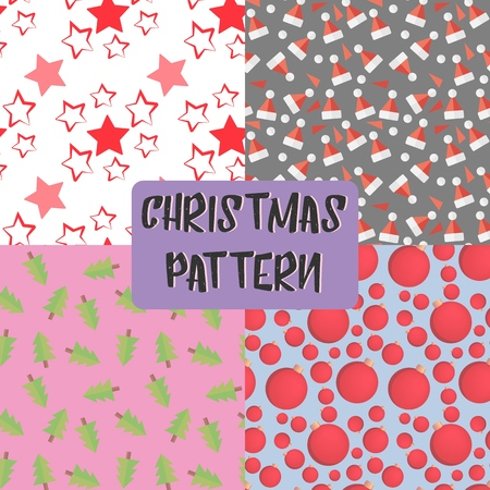 set of Christmas patterns, merry Christmas