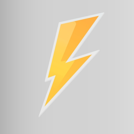 Lightning line icon, thunderbolt vector, volume zipper Illustration