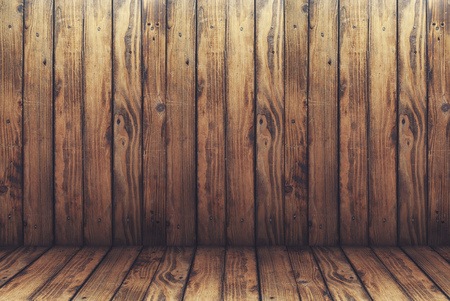 old wooden background and floor in vintage style, burnt wood texture, background for advertising products,